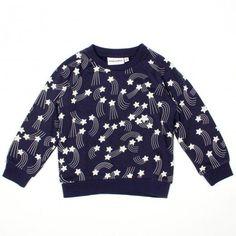 Shooting stars sweater by Mini Rodini! http://www.littlefashiongallery.com