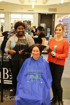 Donating hair to Wigs 4 Kids with Paul Mitchell future professionals during the cut-a-thon at the Macomb Mall. Photography by T. Jarrett Photography