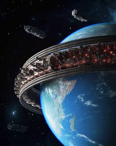 The Artist Inward Brings To Light Sublime Cyberpunk Worlds Futuristic City, Futuristic Architecture, Art Science Fiction, Science Art, Science Experiments, Les Aliens, Perry Rhodan, Spaceship Art, Arte Horror