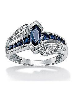 Midnight Blue Sapphire Ring by Palm Beach Jewelry