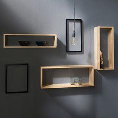 Shelf wall shelf set of 3 hanging shelf bookcase wooden shelf wood natural – Carpet 2020 Hanging Shelves, Wooden Shelves, Wall Shelves, Floating Shelves, Shelving, Living Room Carpet, New Living Room, Boutique Decor, Retail Boutique