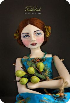 Tallulah art doll, du buh du designs by Christine Alvarado