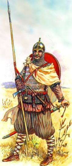 Russian pikeman during the Mongol Invasion of Russia