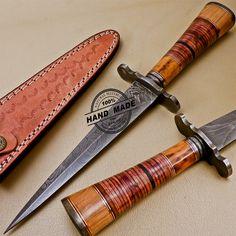 Damascus Dagger Knife Custom Handmade Damascus Steel Hunting Dagger Knife 1002