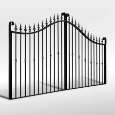 Buy The 'Winterfold' Wrought Iron Driveway Gate from The Iron Gate Shop UK, Unlike other gate companies we can offer 0% finance and free UK Mainland delivery on our products.