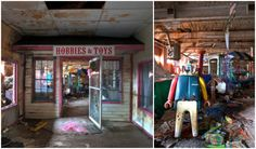 Sometimes you find the most unexpected things in a random vacant mill. This Toy Loft was once a booming factory, store and park. Built into an old mill, t