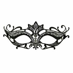 These black metal venetian half masks are the newest in PartySuppliesDelivered line of great black metal masks.  No masquerade ball is complete without some beautiful masquerade masks to go with it. Whether you are dressing up for your school prom or homecoming or just having a great made grass or carnival party to celebrate, you can't go wrong with our great selection of venetian masks, masquerade half masks, deluxe metal half masks or any of our full face masquerade masks.