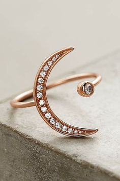Crescent Moon Ring By Shashi