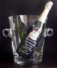 handmade crystal icebucket engraved