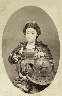 Japanese vintage picture : woman samurai (Talk about putting on the armor of God -- or, in her case, probably gods)