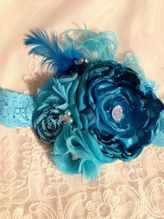 A personal favorite from my Etsy shop Toddler Headbands, Headband Baby, Kids Hair Bows, Floral Headbands, Girls Accessories, Photo Props, Baby Blue, Infant, My Etsy Shop