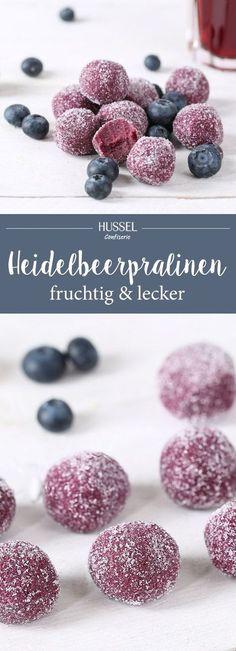 Fruchtige Heidelbeerpralinen – Rezept zum Downloaden | Hussel Magazin