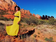 Yellow dress at Sedona, Arizona