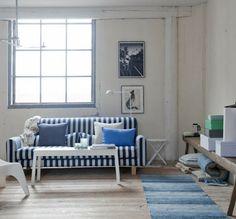Bianco e blu per la casa al mare
