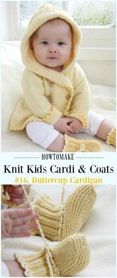 Buttercup Cardigan Free Knitting Pattern - #Knit Kids #Cardigan Sweater Free Patterns