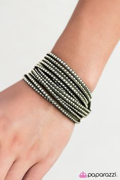 Dont Eat the Glitter - Green  **wrap bracelets can also be worn as chokers** Everything is $5, lead & nickel FREE.   http://paparazziaccessories.com/56344