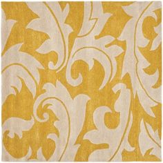 The elegant design of this floral handmade wool rug by Safavieh makes it the perfect addition to any home decor. Infused with gold and ivory tones, the beautiful rug is made of thick New Zealand wool, providing both comfort and durability.