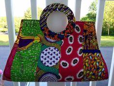 African Fabric Ankara Bag African Bag African Purse by Sandoodles