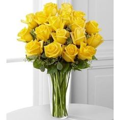 Top 25 most yellow flowers in the world meaning seasonal and valentines day flowers yellow rose bouquet 18 stems mightylinksfo