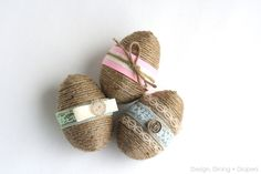 Shabby Chic Easter Eggs From Dollar Store Plastic Eggs by Design, Dining + Diapers