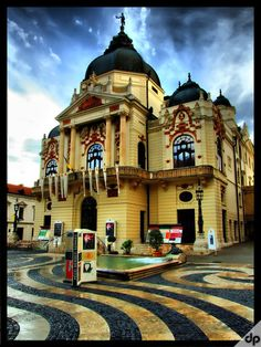 National Theatre of Pécs, Hungary.  Our tips for 25 things to do in Hungary: http://www.europealacarte.co.uk/blog/2012/01/26/what-to-do-in-ihungary