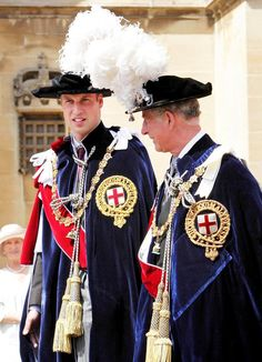 The Procession for the Order of the Garter Service -- Prince Charles & Prince William