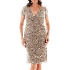 Lace skater dress jcpenney stretch lace - Crochet Detail Skater Dress Simply Be Joanna Hope Beaded Overlay Dress