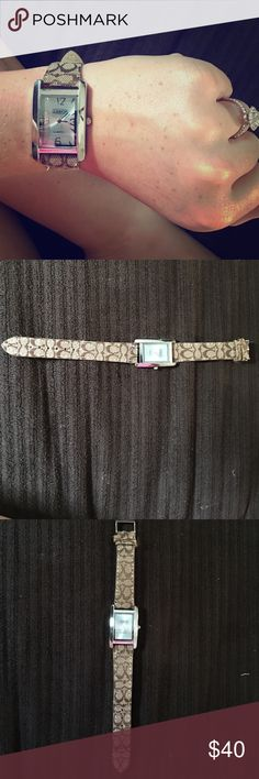 Coach watch Worn once, perfect condition coach watch Coach Accessories Watches