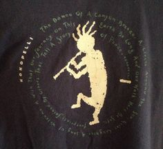 Kokopelli T-Shirt XL Mens Native American Tribal Collection Prints Flute Player $24.99 w/free US ship #kokopelli #nativeamericanshirt