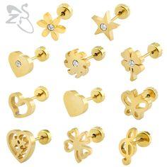 Baby Earrings Stainless Steel Kids Earrings Fashion Jewelry Girl Stud Earing Baby Earing Female Piercing Jewelry For Girl