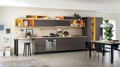 Foodshelf: Fresh, Fluid Design Unites Living Room and Kitchen