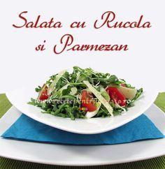 Salata cu rucola si #parmezan este o #salata delicioasa si rapida. Usoara, aromata, racoritoare si plina de vitamine, salata cu rucola si parmezan este o salata ideala pentru perioada de vara. Parmezan, Tacos, Mexican, Beef, Ethnic Recipes, Food, Meals, Yemek, Steak