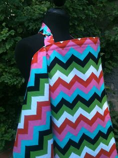 Nursing Cover Multi colored chevron by Essiedesigns on Etsy, $18.99