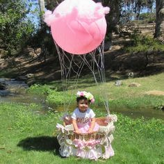 Up up away hot air balloon photo prop by CreativityInfused on Etsy