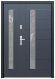 porte double vantaux | porte entree double | porte d entrée sécurisée | porte d entrée double Double Front Entry Doors, Modern Front Door, Front Door Entrance, Solid Doors, Winchester, Ste Julie, External Double Doors, Glazed Glass, Skylight