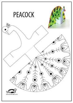 Worksheet for peacock pattern activities, forms activities - Diy & Crafts World Animal Crafts For Kids, Diy For Kids, Paper Toys, Paper Crafts, Peacock Crafts, Peacock Bird, Printable Crafts, Summer Crafts, Elementary Art