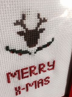 Present for Christmas #deer #christmas #gift #embroidery #cross-stitch