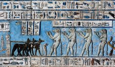 [EGYPT 29543] 'Baboons worshipping the rising sun at Dendera.'  	Four baboons…