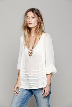 Free People Womens FP ONE Tie That Binds Blouse