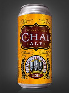 Central Coast Brewing's Chai Ale can created by Guru Design.