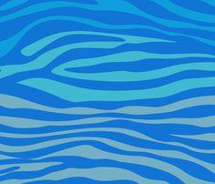 Blue Zebra fabric by angelandspot on Spoonflower - custom fabric