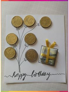 Geld Geschenkidee - Geschenkideen - Best Picture For DIY Birthday Cards for him For Your Taste You are looking for something, and it is going to tell you exactly what you are looking for, and you didn Diy Birthday, Birthday Cards, Mom Birthday Gifts, Ideas For Birthday Gifts, Wrapping Ideas, Gift Wrapping, Farewell Gifts, Diy Gifts For Kids, Small Gifts