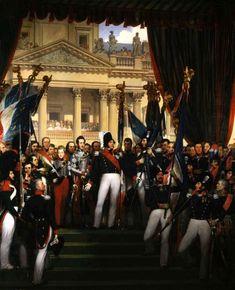 Le roi donne les drapeaux à la Garde nationale de Paris et de la banlieue (29 août 1830). Joseph-Désiré COURT (1797 - 1865) © Photo RMN-Grand Palais - D. Arnaudet / J. Schormans