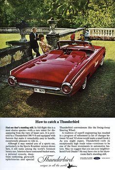 """1963 - Ford Thunderbird. Vivez toute l'expérience de """"1963"""" à la Rentrée Nocturne de la PLace des Arts... - www.rentreenocturne.com - www.facebook.com/RentreeNocturne"""