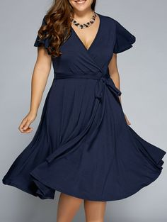 front tie swing surplice plus size dress | swings, wine and market
