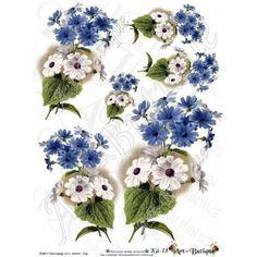 Papier Decoupage - Kwiaty Ka-18