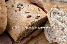 Pane integrale con semi di girasole, ricetta facile e veloce, pane fatto in casa in poco tempo, misto di farine, pane per salumi, colazione, pane facile, misto