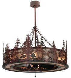 Wholesale Rustic LIghting   Wilderness Chandelairs Ceiling Fans ...