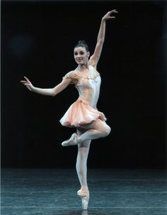 """Tiler Peck in George Balanchine's """"Who Cares?"""" NYCB. Photograph by Paul Kolnik. Tiler Peck recently has become the company's most thrilling and musical ballerina. In Who Cares? (1970), danced to George Gershwin tunes, she proved what it means to dance big, projecting grace — and even sensuality — in her pas de deux with Robert Fairchild. The audience immediately perked up whenever she appeared onstage."""