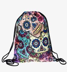 Sugar Skull Backpack Purse